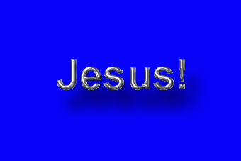 Jesus Blue Background